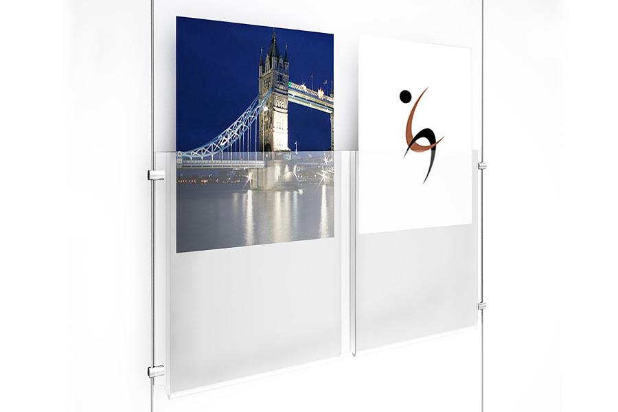 Hanging Acrylic Sign Holder Dual Acrylic Sign Display