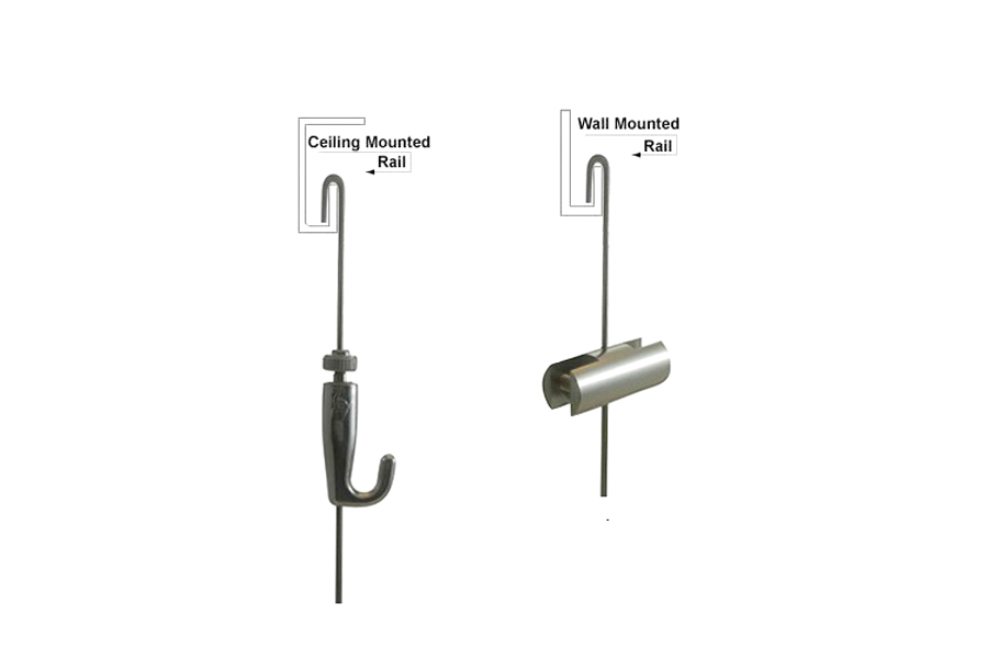 J Cable Rod Hanger Ceiling And Wall Monted Art Hanging Systems